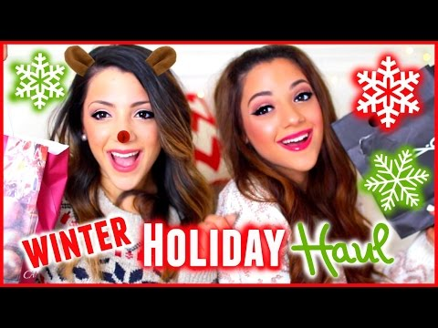 HUGE Winter Holiday Haul 2014 | Niki and Gabi
