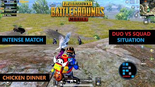 "PUBG MOBILE | AMAZING ""20 KILLS"" DUO VS SQUAD SITUATION INTENSE MATCH CHICKEN DINNER"