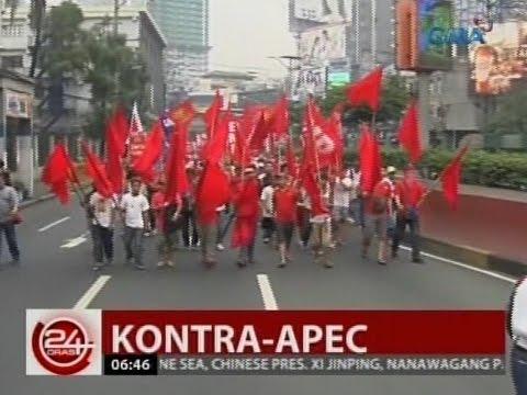 24 Oras: Mga raliyista, pinilit lumusot sa mga barikada pero naharang ng mga pulis