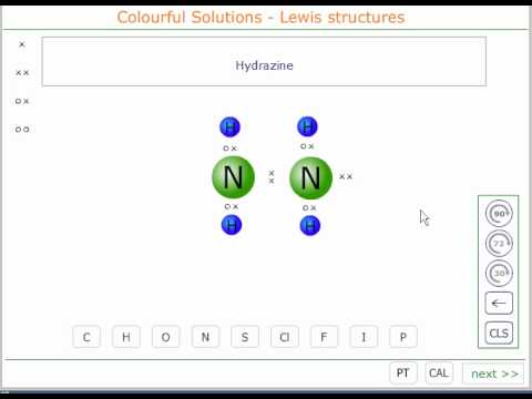 The Lewis structure of hydrazine - YouTube H2cnh2 Lewis Structure
