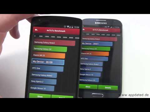 Benchmark: Google Nexus 5 vs Samsung Galaxy S4 | Quadrant - Antutu - Sunspider