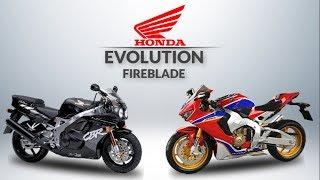 THE EVOLUTION OF HONDA CBR FIREBLADE 1992 - 2019
