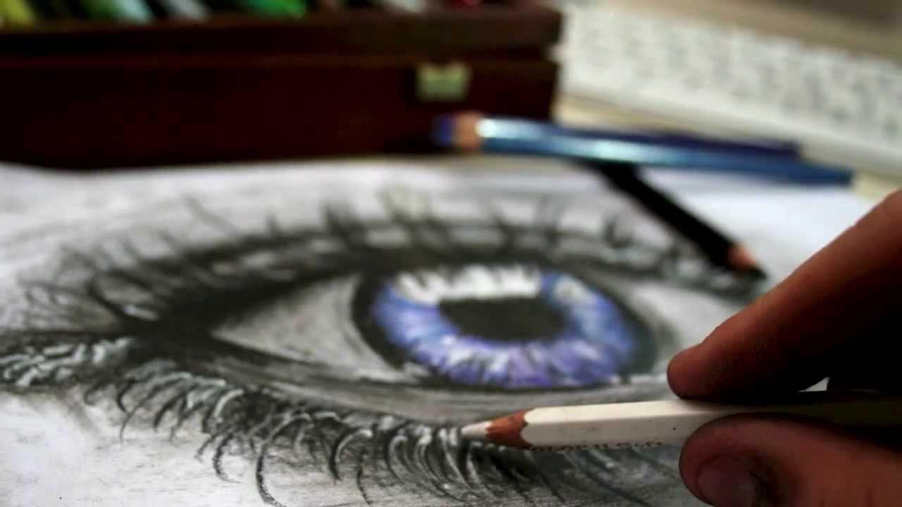 Blue Eye Pencil Drawing Pencil Drawing Blue Eye