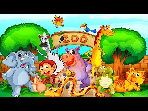 Ingles para niños - Animales del Zoológico - Video Educativo #