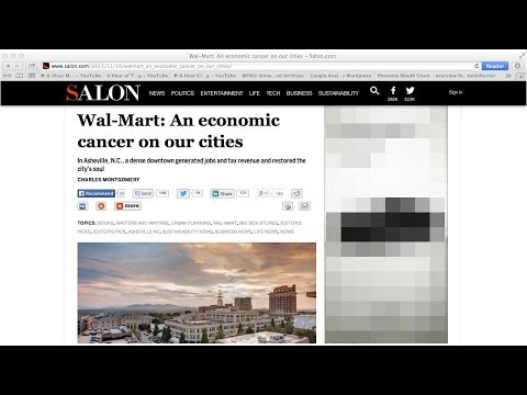 North Carolina Man Shows How Per Acre, Wal Mart and Sprawl Are An Economic Cancer