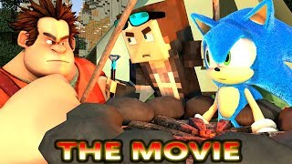 WRECK IT RALPH IN MINECRAFT CHALLENGE! THE MOVIE! Ft. Sonic (official) Minecraft Internet Animation