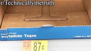 r/Technicallythetruth | INVISIBLE TAPE