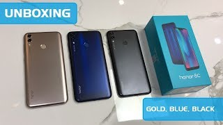 HONOR 8C UNBOXING BLUE BLACK GOLD