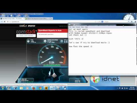 Modem Huawei E3131-S2 21 Mbps Review Speed test Download