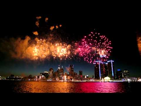 Detroit - Windsor International Freedom Fireworks 2012 [Full Length HQ 1080p 720p]