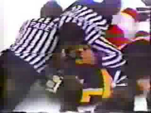 Ray Bourque vs Dennis Polonich Video