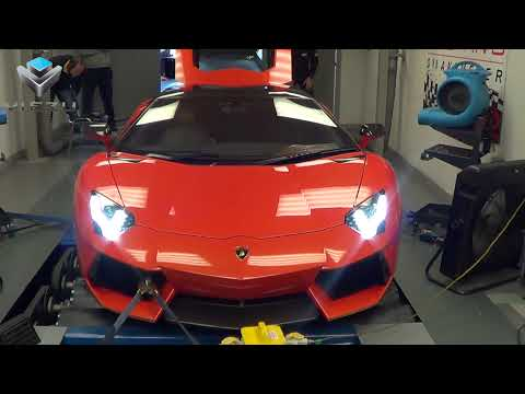 Lamborghini Aventador Tuning - Flaming Dyno Runs With Viezu and Oakley Design