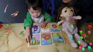 Đồ chơi ghép hình thông minh cho bé❤Puzzles for baby❤ Đồ chơi gỗ thông minh❤ Dâu Tây ToysReview TV ❤