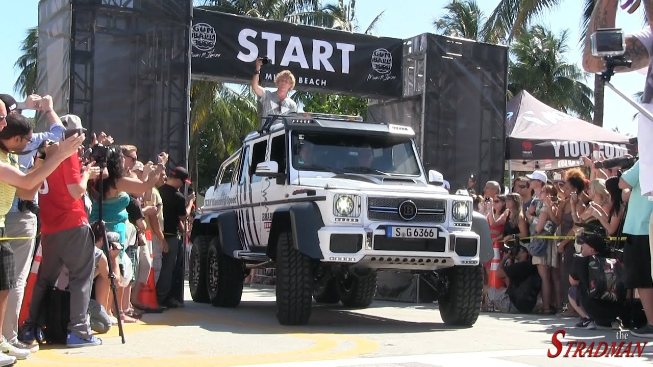 Mercedes 6x6 >> $780,000 Mercedes Benz G63 AMG 6X6 Brabus 700 mobbing in South Carolina on the Gumball 3000 ...