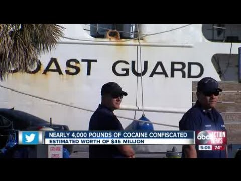 US Coast Guard offloads $45 million worth of cocaine in St Petersburg