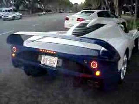 Exotic Cars in Beverly Hills - Bugatti MC12 lambos and more Video