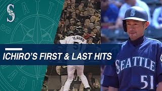 A look at Ichiro's first and last hits in the Majors
