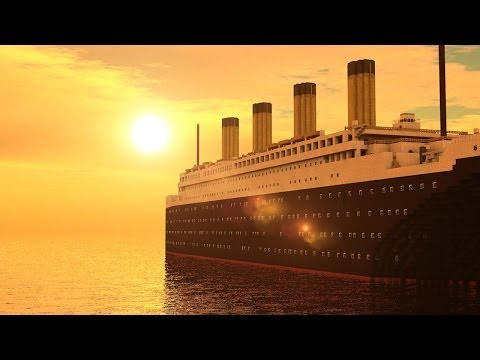 Minecraft: RMS Titanic - departure, travel and sinking