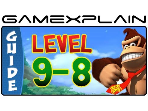 Donkey Kong Country Returns 3D: 9-8 Lavawheel Volcano (Puzzle Pieces, KONG Letters Guide)