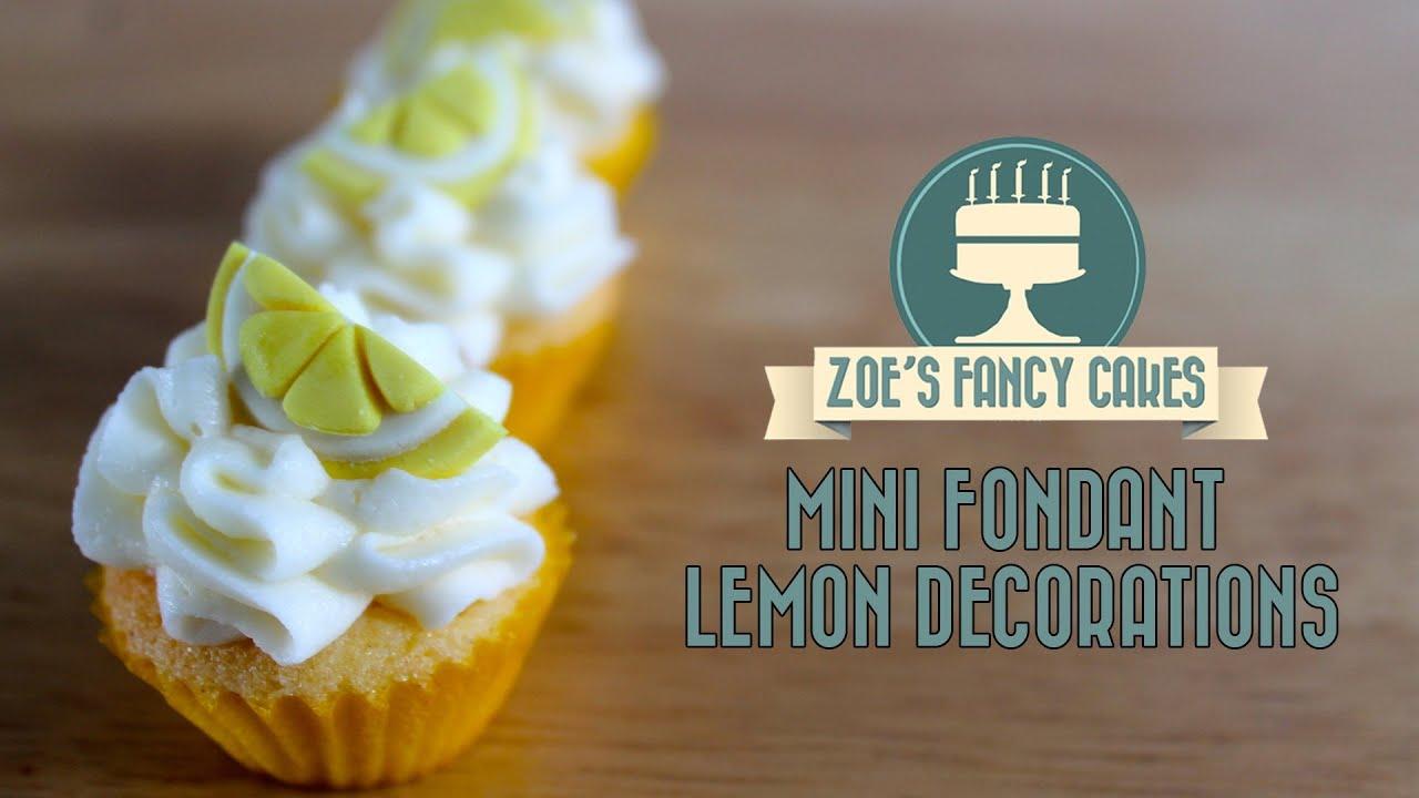 Making Mini Fondant Lemon Slices Decorations For Mini