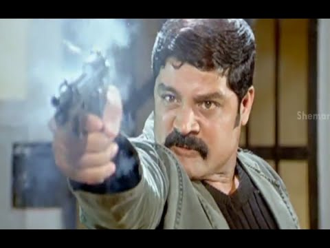 Badradri Full Movie Scenes - Srihari Shoots All The Police, Who Tries To Kill Him - Nikitha, Raja video