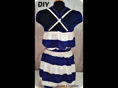 Como Hacer Un Vestido De Tirantes Cruzados DIY How To Make A Sun dress