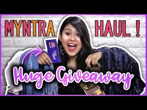MYNTRA SHOPPING HAUL + HUGE GIVEAWAY Rs.5000 | TryOn Haul | ThatQuirkyMiss