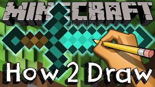 How To Draw The Diamond Sword From Minecraft  | Drawing & Coloring & Learning