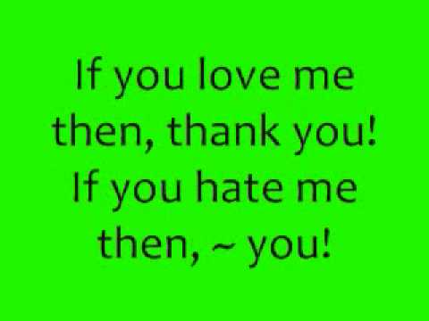 Love Me or Hate Me - Lady Sovereign (Lyrics) Video