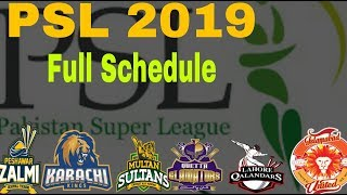 HBL PSL 2019 Session 4 Full Schedule,Timetable,Revnue,Fixture || Pakistan Premiar League 2019