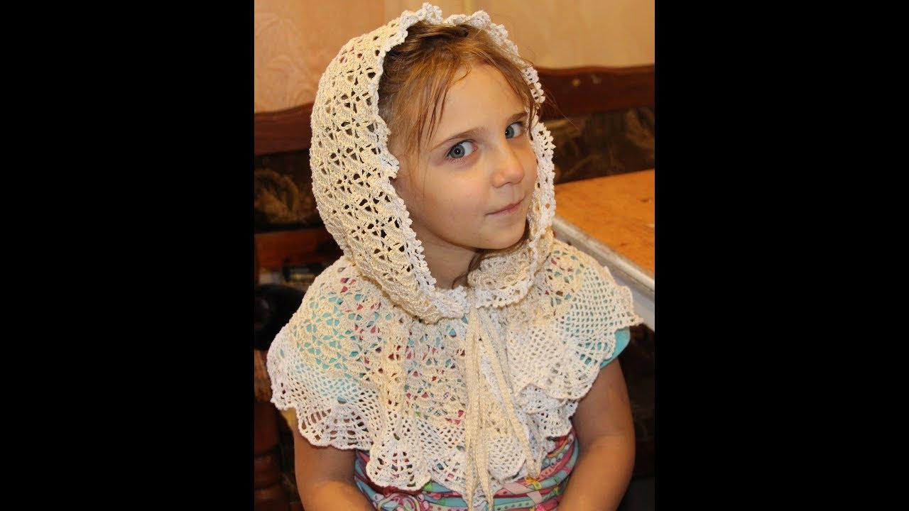 Вяжем платок для церкви