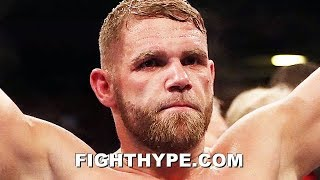 "BILLY JOE SAUNDERS SECONDS AFTER KNOCKING OUT COCERES; ADMITS ""NOT WORTHY"", CALLS OUT CANELO"