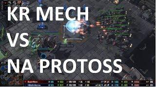 Starcraft 2 - TvZ - MECH VS PROTOSS - KR VS NA! - SuperNova vs Astrea on Acid Plant