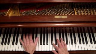 "Blues Piano, ""Black Hat & Shades"". w/ short explanation."