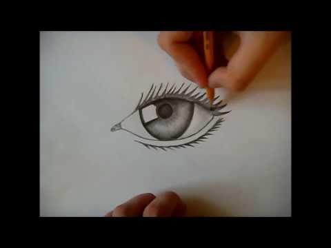 Как рисовать глаз смотреть