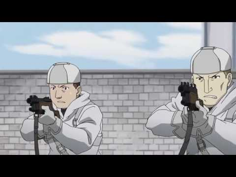 Fullmetal Alchemist Brotherhood - King Bradley vs quân đội