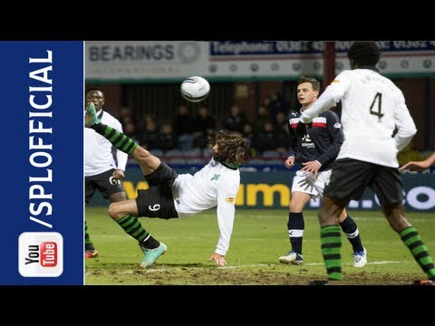Georgios Samaras Scores Stunning Overhead Kick Goal, Dundee 0-2 Celtic, 26/12/2012