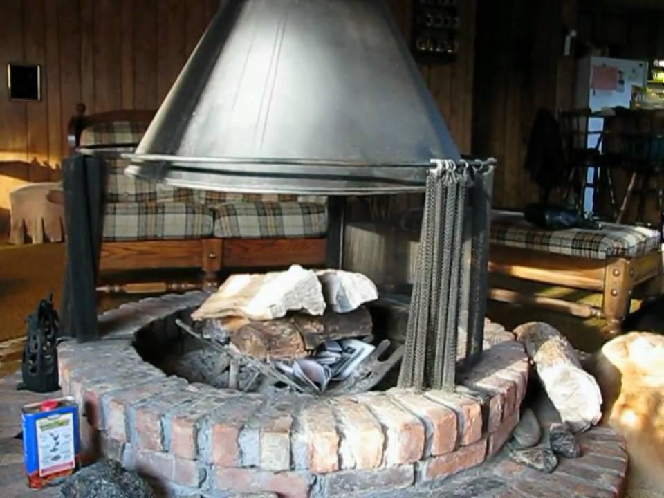 Telescoping freestanding circular fireplace - YouTube