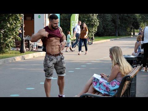 Качок пикапер / Bodybuilder Pickup Prank
