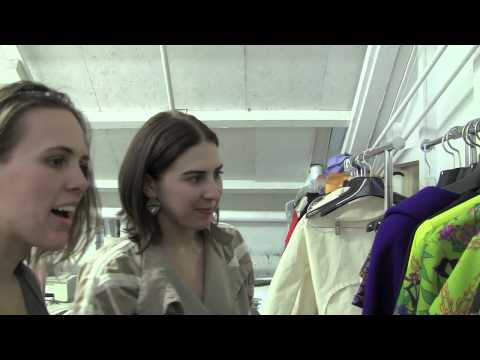 Alarke with fashion designer Jamie McCarty