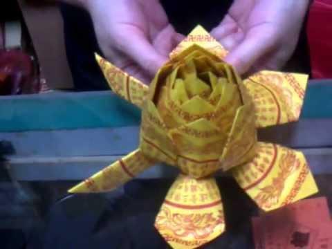 摺紙教學(祭拜往生者紙蓮花的摺法一)