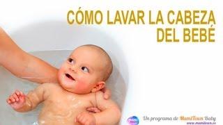 Consejos para lavar la cabeza del bebé