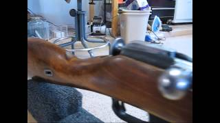 Mosin Nagant,   Before and After cosmoline removal and refinish   WWII gun