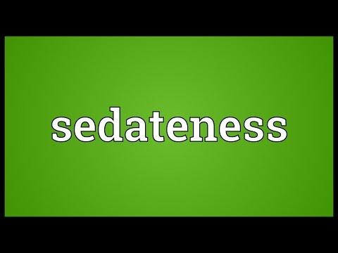 Header of sedateness