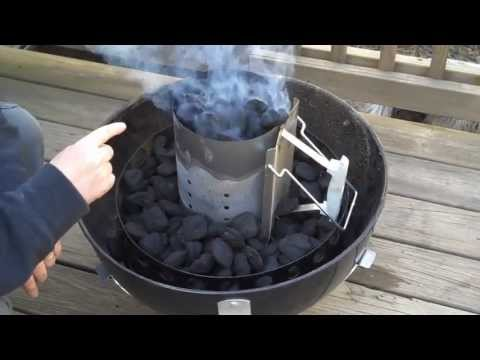 Pork Barrel BBQ - How to Light a Charcoal Fire using the Minion Method in a Weber Smokey Mountain