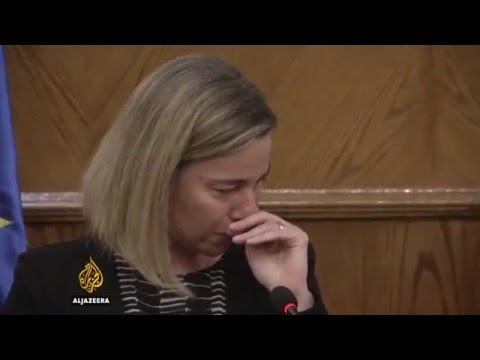 EU's Mogherini overcome with emotion after Brussels attacks