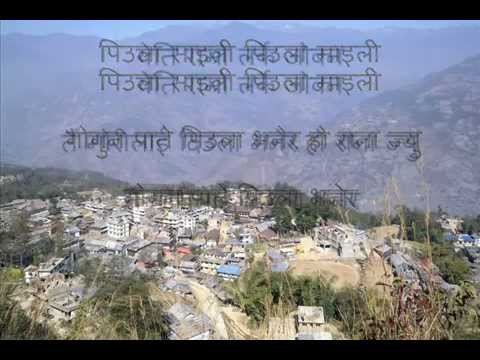 Nepali (N) Wallo Kholo Pallo Kholo  Karaoke with Nepali lyrics...