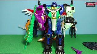 Lắp ráp robot đồ chơi siêu nhân gao cá sấu - Megazord gao hunter
