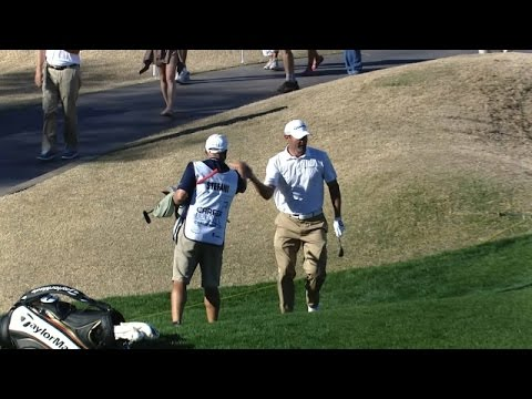 Shawn Stefani holes high pop shot for eagle at CareerBuilder