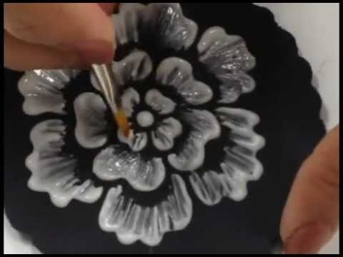 Brush Embroidery With Designer Stencils Youtube